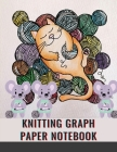 Knitting Graph Paper Notebook: Valentine's Day Themed Notebook/Journal for Avid Knitters 4:5 Ratio Cover Image