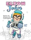 Elton John Rockin' the Greatest Hits Coloring Book Cover Image