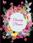 Cleaning Planner: Black Book Colorful Flowers, 2019 Weekly Cleaning Checklist, Household Chores List, Cleaning Routine Weekly Cleaning C Cover Image