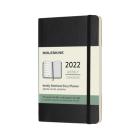 Moleskine 2022  Weekly Planner, 12M, Pocket, Black, Soft Cover (3.5 x 5.5) Cover Image