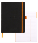 Rhodiarama Softcover 6 X 8 1/4 A5 Black Meeting Book Cover Image