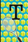 T: Tennis Monogram Initial Notebook for boys Letter T - 6