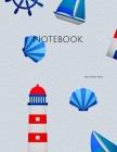Notebook: nautical seaside lighthouse boat wheel decoration ships sea Cover Image