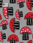 Notebook: Mushroom on grey cover and Dot Graph Line Sketch pages, Extra large (8.5 x 11) inches, 110 pages, White paper, Sketch, Cover Image