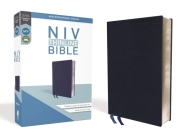 NIV, Thinline Bible, Bonded Leather, Navy, Red Letter Edition Cover Image