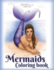 Mermaids Coloring Book: Stress relieving adult coloring book with beautiful mermaids and fantasy scenes for relaxation Cover Image