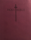 King James Version Easy Read Sword Value Thinline Bible Personal Size Burgundy Ultrasoft Cover Image