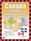 Canada and the Canadian Provinces Map Coloring Book Cover Image