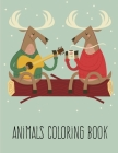 Animals coloring book: Cute Christmas Coloring pages for every age Cover Image