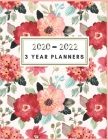 3 Year Planner: Floral Monthly Planner: 3 Year Planner - 2020-2022 3 Year Monthly Planner 8.5 x 11 - Planners - Planner 2020-2022 - Pl Cover Image