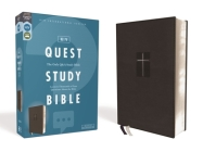 Niv, Quest Study Bible, Leathersoft, Black, Comfort Print: The Only Q and A Study Bible Cover Image