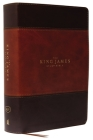 The King James Study Bible, Imitation Leather, Brown, Full-Color Edition Cover Image