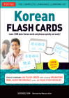 Korean Flash Cards Kit: Learn 1,000 Basic Korean Words and Phrases Quickly and Easily! (Hangul & Romanized Forms) (Audio-CD Included) Cover Image
