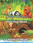 50 Baby Animals Coloring Book: A Coloring & Activity Book For Kids (Color By Number Coloring Book).. Cover Image
