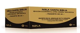 Nbla Santa Biblia, Edición Económica, Letra Grande, Tapa Rústica / Paquete de 24 Cover Image