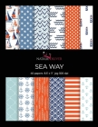 Sea Way: Scrapbooking, Design and Craft Paper, 40 sheets, 12 designs, size 8.5