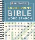 Brain Games - Large Print Bible Word Search (Blue) Cover Image