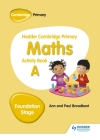Hodder Cambridge Primary Maths Activity Book a Foundation Stage Cover Image