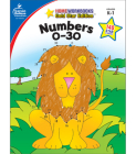 Numbers 0-30, Grades K - 1: Gold Star Edition (Home Workbooks) Cover Image