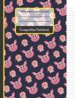 Composition Notebook: Cute Pigs College Ruled Notebook for Writing Notes... for Kids, School, Students and Teachers (Pig Gifts for Pig Lover Cover Image
