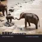 Baby Elephants Calendar 2021: 16 Month Calendar Cover Image