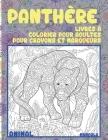 Livres à colorier pour adultes pour crayons et marqueurs - Mandala - Animal - Panthère Cover Image