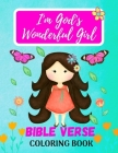 I'm God's Wonderful Girl - Bible Verse Coloring Book Cover Image