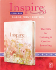 Inspire Catholic Bible NLT Large Print (Leatherlike, Pink Fields with Rose Gold): The Bible for Coloring & Creative Journaling Cover Image