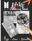BTS Dots Lines Spirals Coloring Book: BTS Great Picture for Adults and teens for KPOP & Army Fans Cover Image
