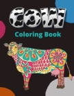 Cow Coloring Book: Large Print Cows Coloring Book For Adult Stress Relief and Relaxation Mandala Style Coloring Pages Cover Image