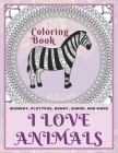 I Love Animals - Coloring Book - Wombat, Platypus, Bunny, Shark, and more Cover Image