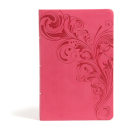 CSB Large Print Personal Size Reference Bible, Pink LeatherTouch Cover Image