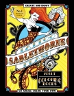 Tattoo Flash Adult Coloring Book: Sablethorne Adult Relaxation With Modern Tattoo Art Designs Such as Mermaids, Aliens, Pinups and More Cover Image