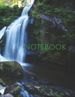 Notebook: waterfall Black Forest water nature waters forestry stream Cover Image
