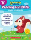 Learning Express Reading and Math Jumbo Workbook Kindergarten Cover Image