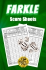 Farkle Score Sheets: 130 Large Score Pads for Scorekeeping - Green Farkle Score Cards Farkle Score Pads with Size 6 x 9 inches (Farkle Scor Cover Image