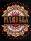 Mandala Coloring Book For Adults: ( Black Background ) Adult Coloring Book Featuring Calming Mandalas designed to relax and calm Cover Image
