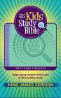 KJV Kids Study Bible Flex Purple and Green Imprintable (Genuine Leather) Cover Image