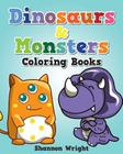 Dinosaurs & Monsters Coloring Book Cover Image