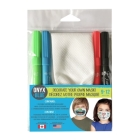 Kids Color Your Own Mask with Markers: Double Fold (2-Ply) 100% Cotton Cover Image