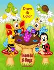 Draw & Color Insects & Bugs Coloring Book Cover Image
