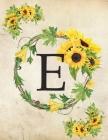 E: Monogram Initial E Notebook for Women and Girls- 8.5