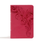 CSB Large Print Compact Reference Bible, Pink LeatherTouch Cover Image
