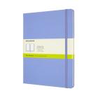 Moleskine Classic Notebook, Extra Large, Plain, Hydrangea Blue, Hard Cover (7.5 x 9.75) Cover Image