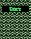 120 Page Handwriting Practice Book with Green Alien Cover Erick: Primary Grades Handwriting Book Cover Image