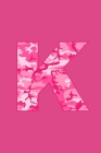 K: Writing Journal Diary for Active Duty or Deployed Military Service Member with Pink Camouflage Camo Initial. 6