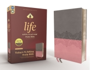Niv, Life Application Study Bible, Third Edition, Leathersoft, Gray/Pink, Red Letter Edition Cover Image