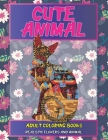 Adult Coloring Books Realistic Flowers and Animal - Cute Animal Cover Image