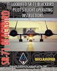 Lockheed Sr-71 Blackbird Pilot's Flight Operating Instructions Cover Image