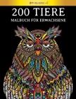 200 Tiere - Malbuch für Erwachsene: [2 Bücher in 1] Stressabbauende Designs zur Entspannung von Erwachsenen. KOSTENLOSE PDF-VERSION ZUM HERUNTERLADEN. Cover Image